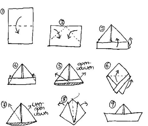 Paper Boat Folding - forgot how to fold a boat kreative