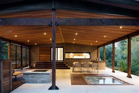 terrasse couverte terrasse couverte avec spa