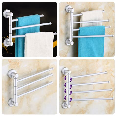 wall towel holders bathrooms wall mounted aluminum bath towel holder swivel bathroom