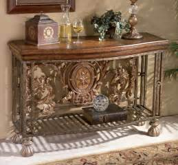 Accent Table Decor Tuscan Tuscany World Decor Iron Scroll Entry Accent Sofa Table New Tables Sofa