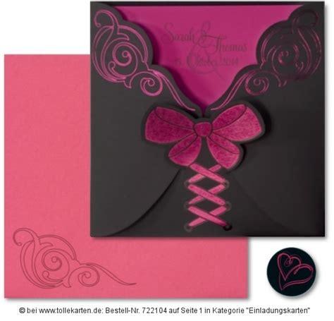 Einladung Hochzeit Pink by Raffinierte Hochzeitskarte In Pink Und Schwarz