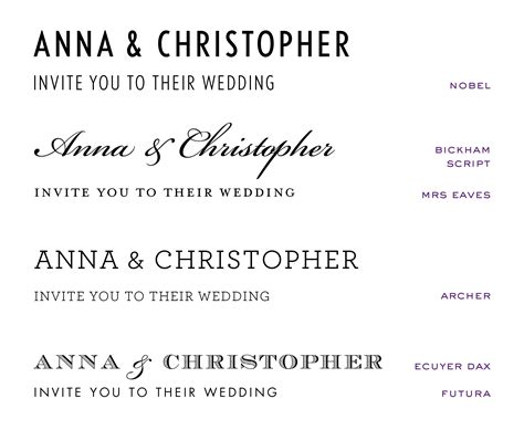 Wedding Font Pack by Wedding Invitation Fonts At Emily Jo
