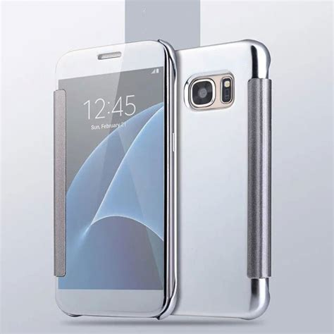 Mirror Clear View Flip Smart Samsung Galaxy S7 Edge Casing Cover mirror smart clear view window flip cover for samsung galaxy s7 s8 plus ebay