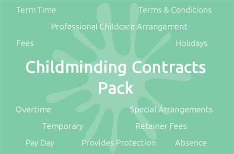 childminding contracts pack mindingkids