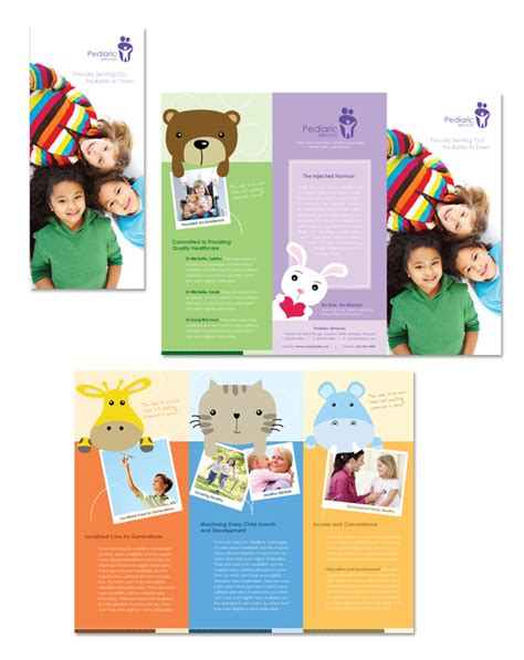 child care brochure templates pediatrician child care tri fold brochure template