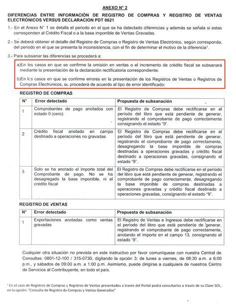 multa por no pagar pdt 621 registro de compras y registro de ventas electr 243 nicos