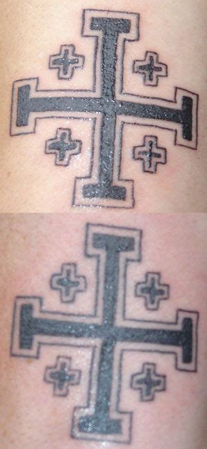 crusaders cross tattoo jerusalem cross ink testament