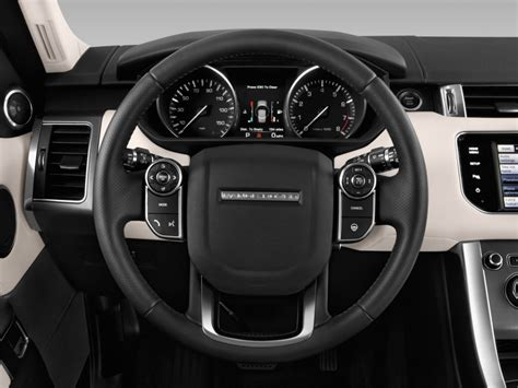 image  land rover range rover sport  supercharged hse steering wheel size
