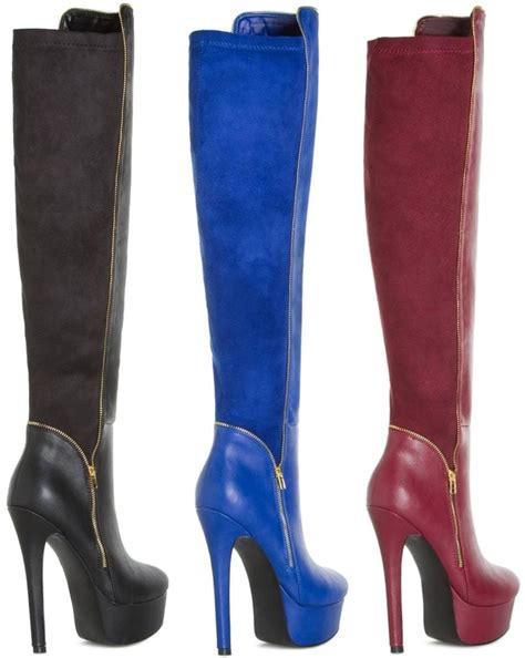 comfortable platform boots beautiful and comfortable over the knee platform boots for