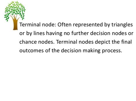 Decision Notes For Mba by Decision Tree M B A Decsci