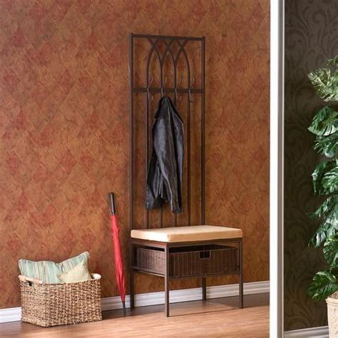 modern hall tree bench upton home ovilla hall tree entry bench contemporary hall trees by overstock com