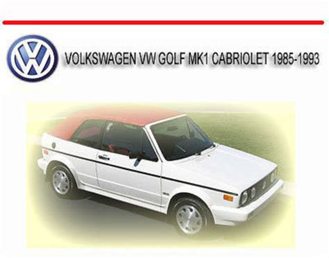free car manuals to download 1993 volkswagen cabriolet parking system volkswagen manual best repair manual download