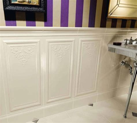 wainscoting bathroom tile tile wainscoting for the home pinterest