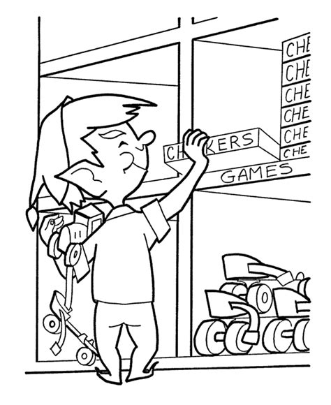 coloring pages of santa s workshop christmas elves coloring pages coloring home