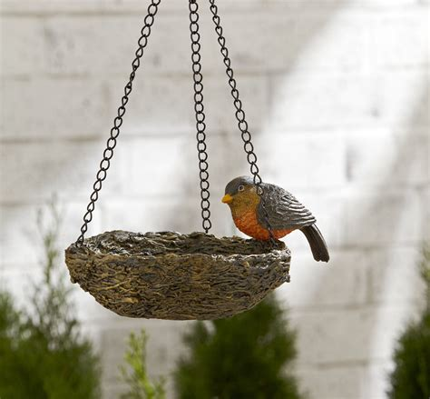 hanging bird nest bird feeder robin