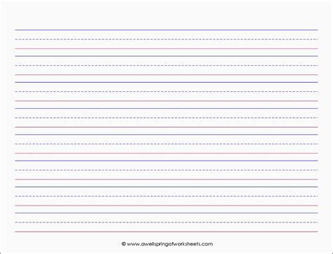 printable kindergarten notebook paper handwriting paper printable free bilingual accountant