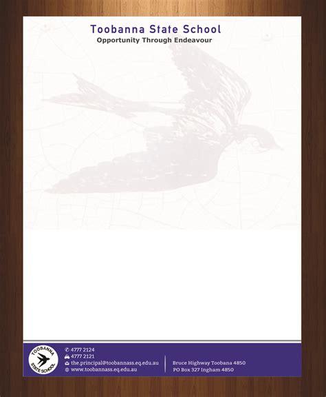 design header and footer modern feminine letterhead design for toobanna state