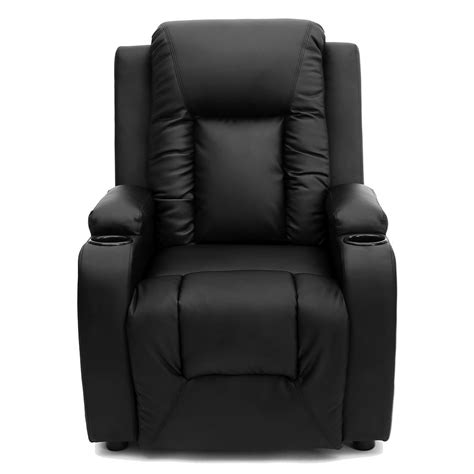 cinema armchair oscar leather recliner w drink holders armchair sofa chair