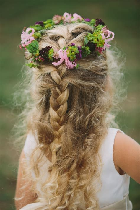 flower girl braided hairstyles for weddings 43 best images about flower girl hair on pinterest updo
