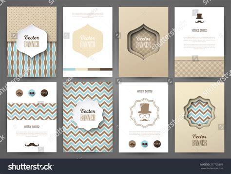 brochure template vintage set brochures vintage style vector design stock vector