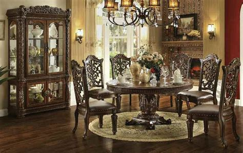 large formal dining room tables von furniture vendome large round formal dining room set