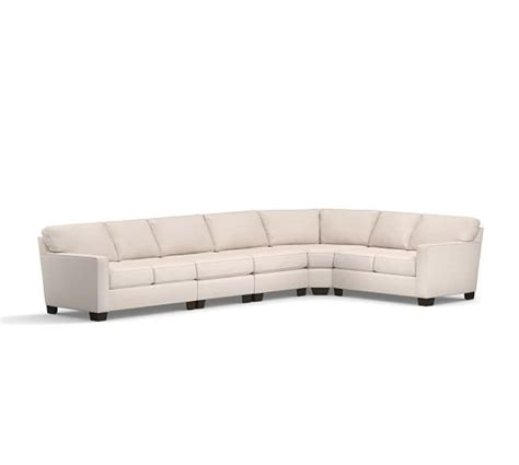 curved wedge sectional sofa buchanan square arm upholstered curved 5 sectional