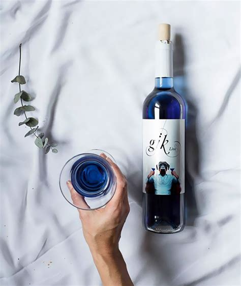 blue colored wine blue wine is a thing now bored panda