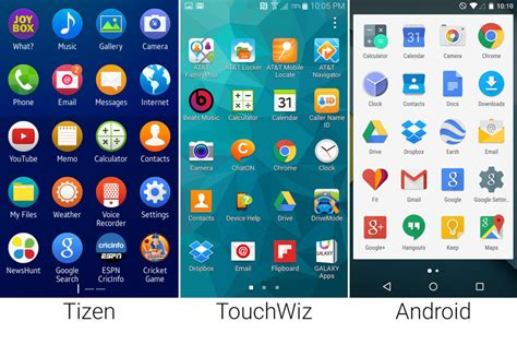 tizen vs android tizen versus android in pictures ars technica