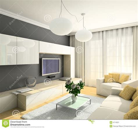 simple white living room wall design download 3d house 3d render modern interior of living room stock image