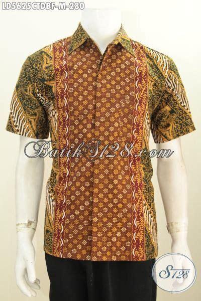 desain baju batik lelaki pakaian batik lelaki model lengan pendek motif bagus