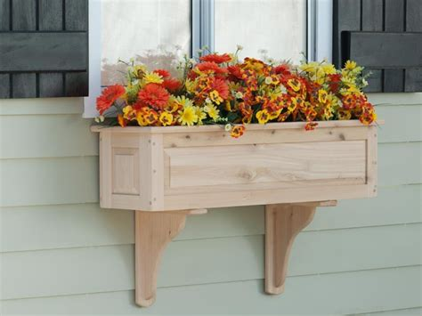 wooden window box planters framed panel cedar window box wooden window boxes