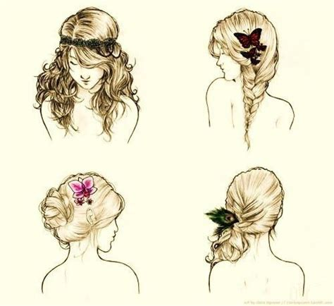 Beautiful Hairstyles Drawing | beautiful drawing hair sketching image 316197 on