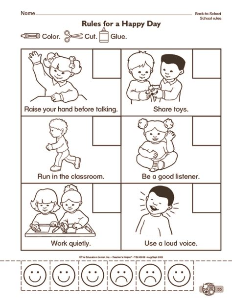 preschool rules coloring pages crafts actvities and worksheets for preschool toddler and