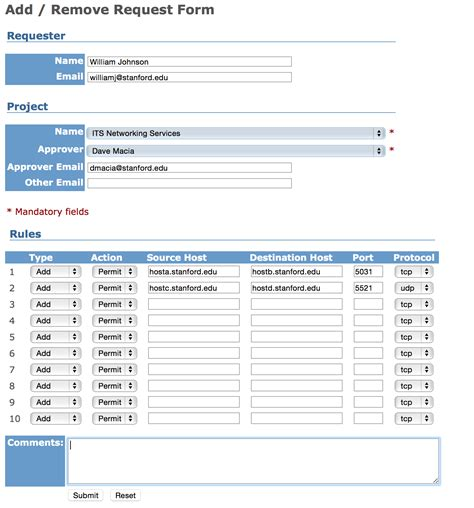Firewall Rule Request Process University It Firewall Change Management Policy Template
