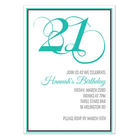 21st Birthday Card Template by 21st Birthday Invitation Invitations Cards On Pingg