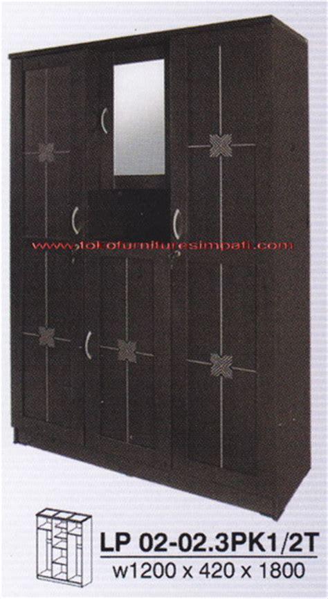 Lemari Pakaian 2 Pintu Plus Kaca Ar 2101 lemari pakaian ekonomis lemari termurah mulai dari 400rb an toko furniture simpati