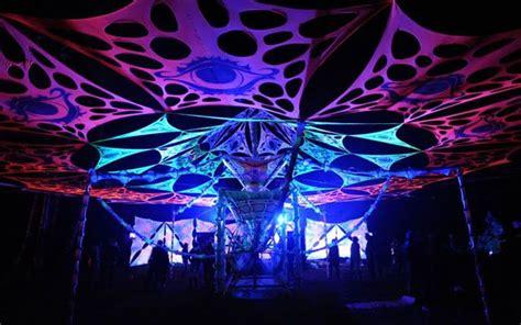 psy trance party decor open air trance festival decor