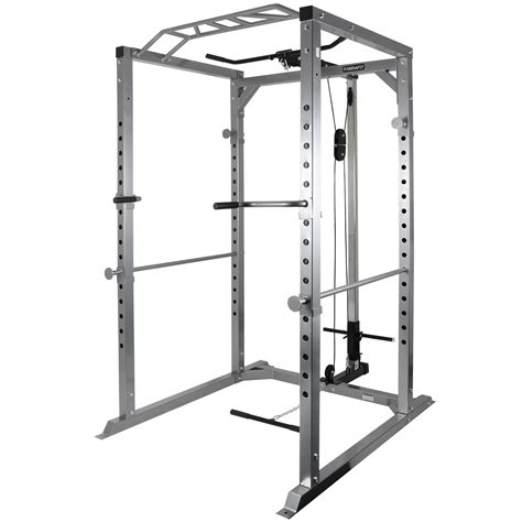 Squat Rack With Cables by Mirafit 350kg Heavy Duty Olympic Power Cage Squat Rack