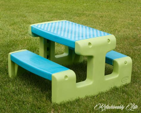 tikes picnic table tikes picnic table makeover refashionably late