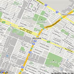 map of montreal canada hotels accommodation