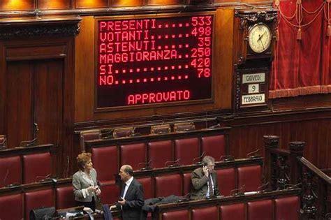 votazione dei deputati oggi passa la fiducia al decreto svuota carceri guarda la