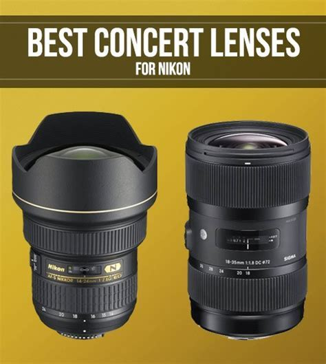 Best Nikon Lenses for Concert Photography   Smashing Camera