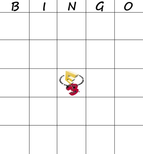E3 Bingo Card Template by E3 2013 Bingo Thread Neogaf
