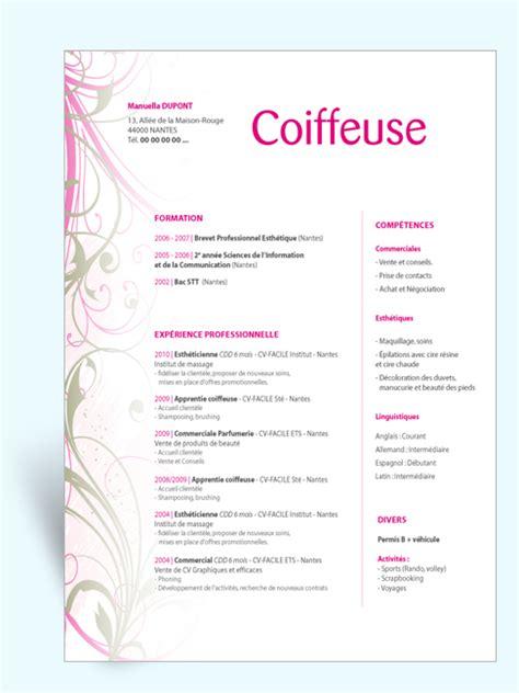 Lettre De Motivation Vendeuse Grossiste Coiffure modele cv coiffure