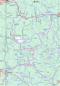 Michigan Snowmobile Trail Map by Michigan Snowmobiling Bruce Crossing Watersmeet