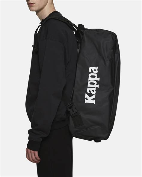 kappa backpack bag kf4bp962 black gosha rubchinskiy kappa backpack in black for lyst