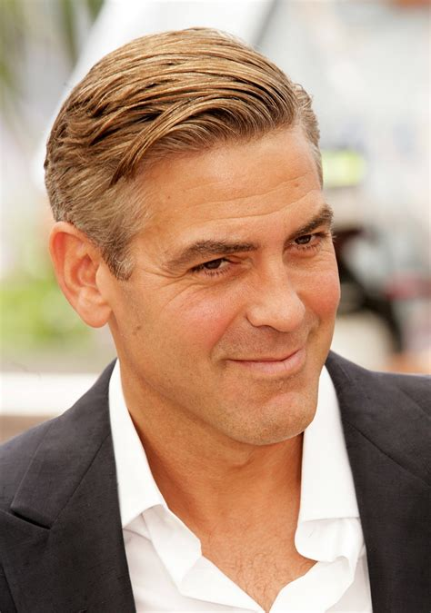 George Clooney Hairstyle by San Fransisco Mens Hairstyles George Clooney Cool