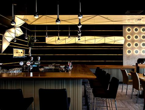Origami Sushi Restaurant - sushi restaurant with origami lights interiorzine