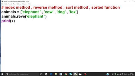 tutorial python list python tutorial in hindi 28 list part 4 index
