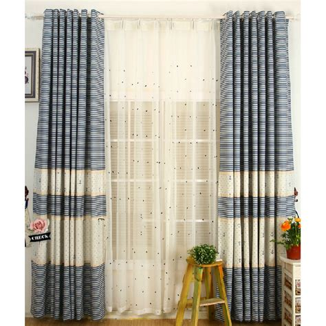 quality curtains quality white blue cotton kids striped nautical curtains